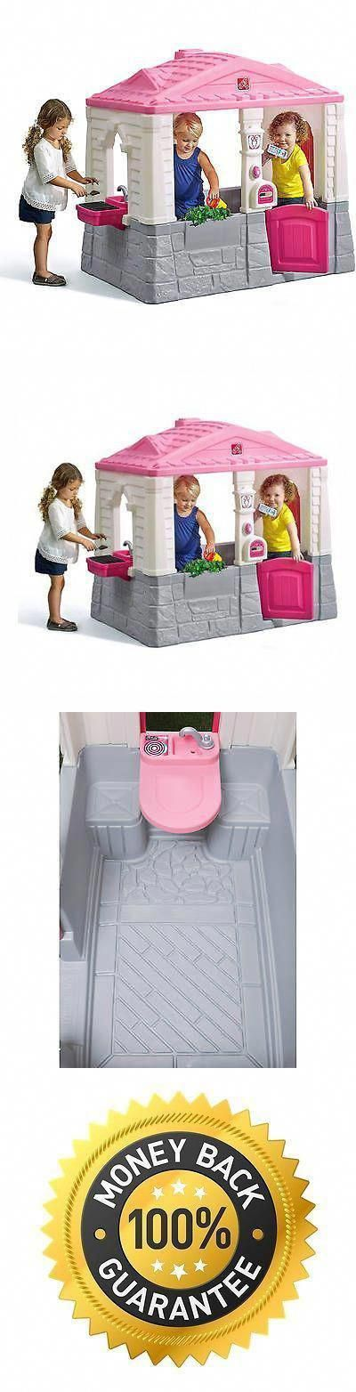 Permanent Playhouses 145995 Pink Children Indoor Outdoor Play House