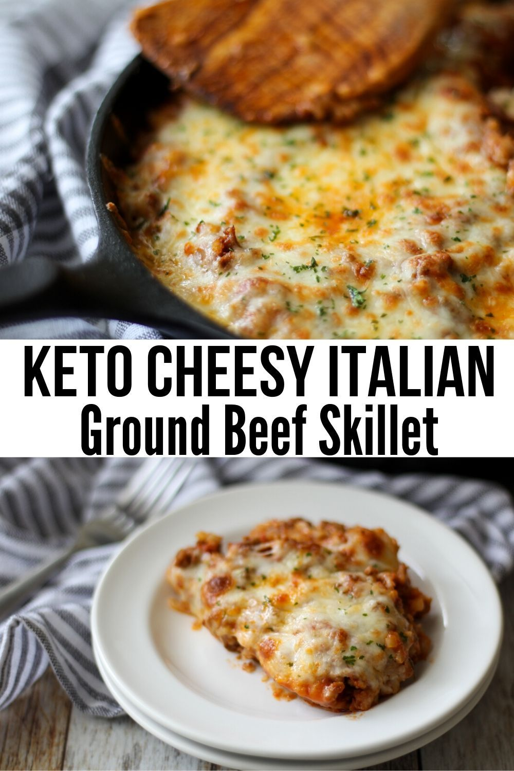 Low Carb Ground Beef Recipe Italian Keto Beef Skillet Recipe In 2020 Beef Recipes For Dinner Beef Skillet Recipe Beef Recipes