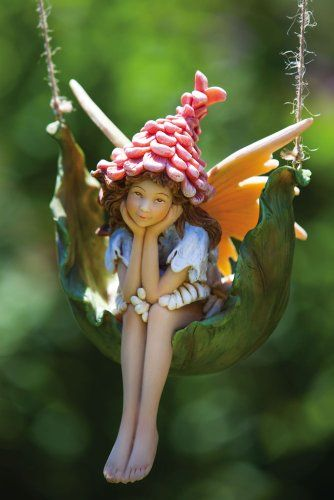 Petal Fairies Proper Pixie Hanging Statuary