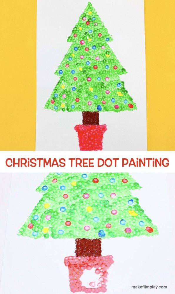 Christmas Tree Dot Painting Edep Christmas Tree Painting