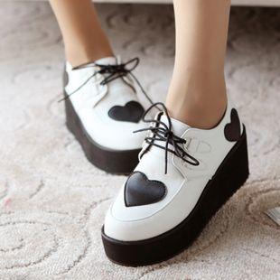 casual shoes harajuku sub-wedge heel platform shoes ...
