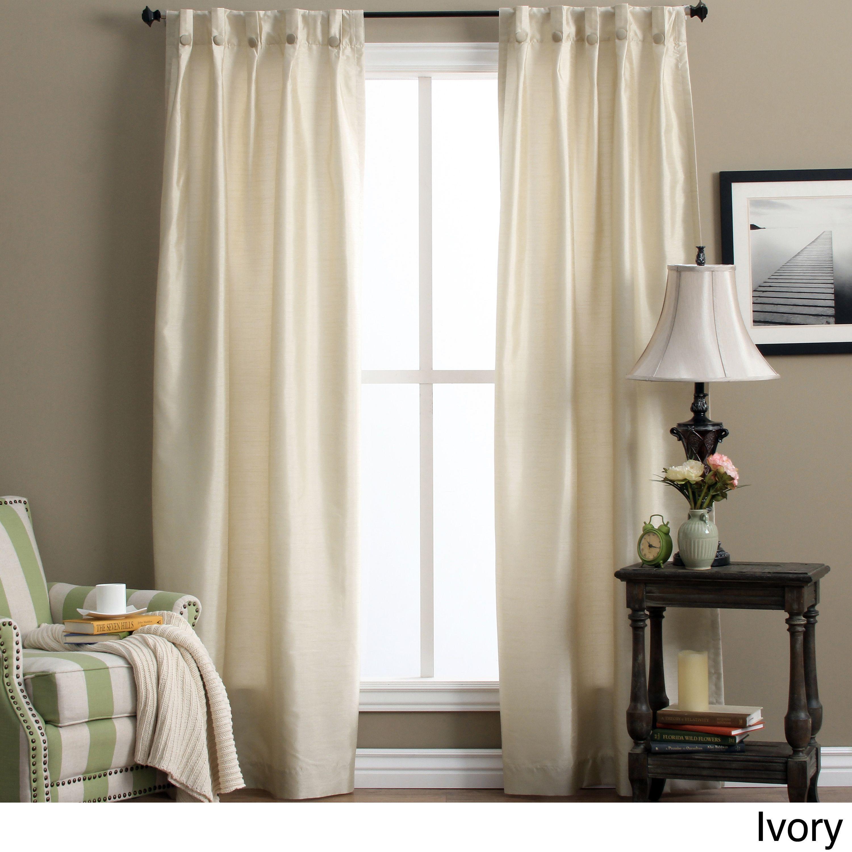Artisan Double Width Box Pleated Back Tab Curtain Panel Pair