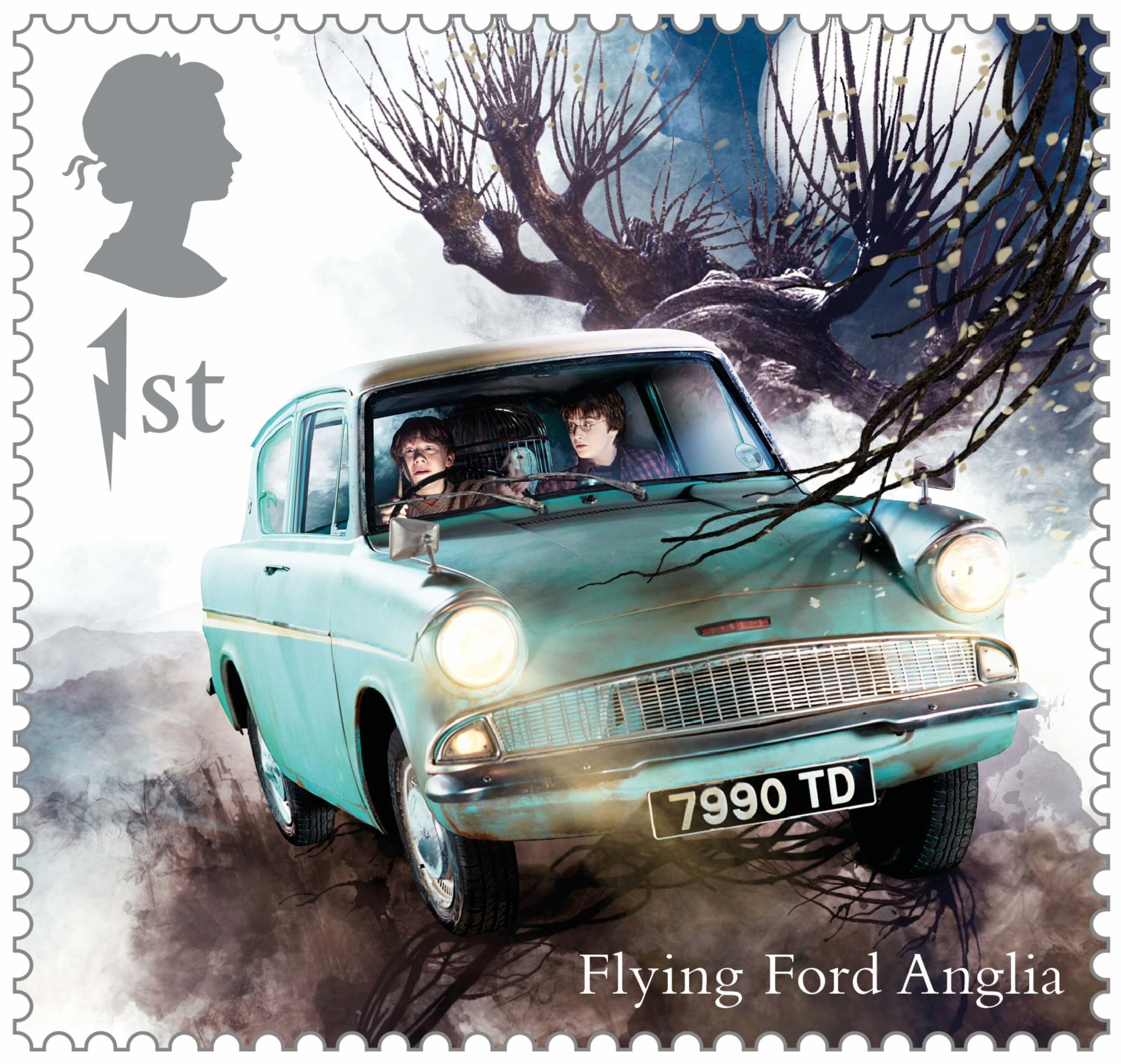 Great Britain 2018 Harry Potter 04 15 Flying Ford Anglia