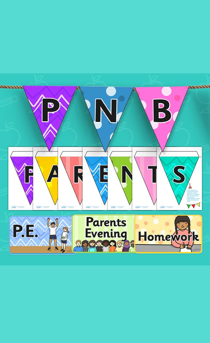 ownload all the resources you need for your parents notice board in this handy pack. Includes bunting, headers, editable rectangles and editable speech bubbles.