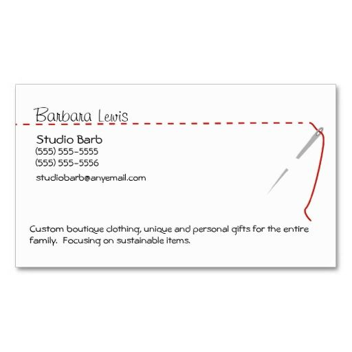 Sewing Craft Business Card