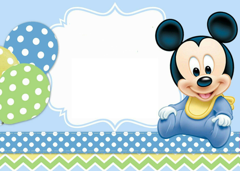Recuerdo De Mi Baby Shower Ian Alexis Invitacion De Mickey Mouse