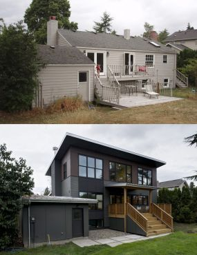 Rear Of House Before And After