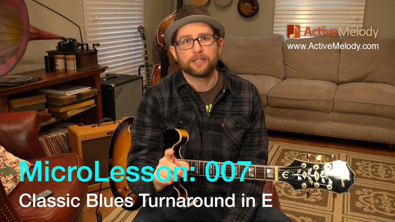 MicroLesson:007 - Guitar lessons that are 1 minute or less! In this MicroLesson I'll show you how to play 2 variations on a classic blues turnaround in the…