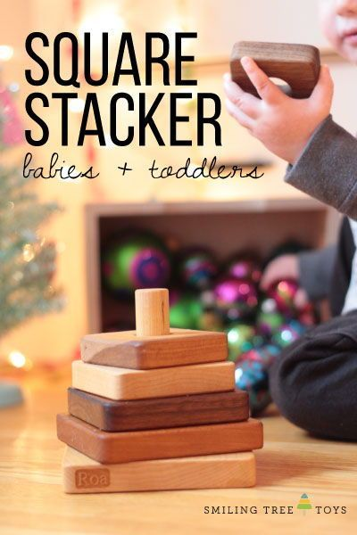 Square stacking toy | Stacking toys, Woodworking for kids ...