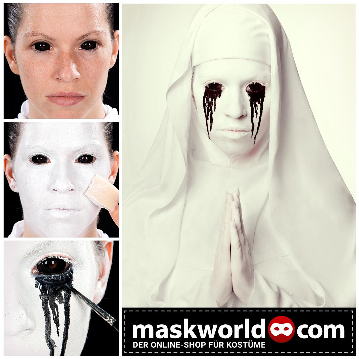 Halloween Horror Makeup Mua Nonne Nun Americanhorrorstory