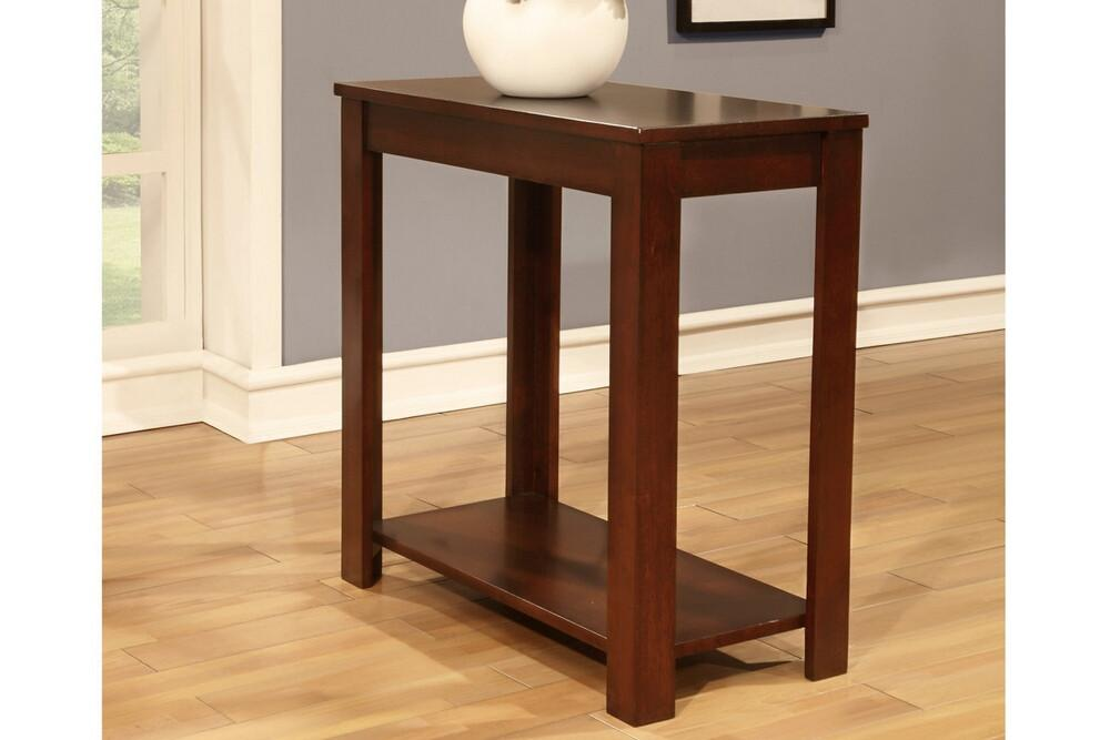 Best Poundex F6105 Side Table Cherry With Lower Shelf Chair 400 x 300