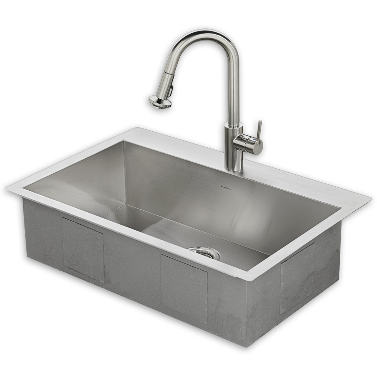 Memphis 33x22 Stainless Steel Kitchen Sink Kit With Faucet