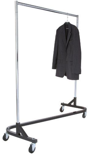 Superduty Rolling Zrack Garment Rack With 1 Piece Black Base Holds Up To 500lbs Check This Awesome Product Garment Racks Rolling Clothes Rack Clothing Rack