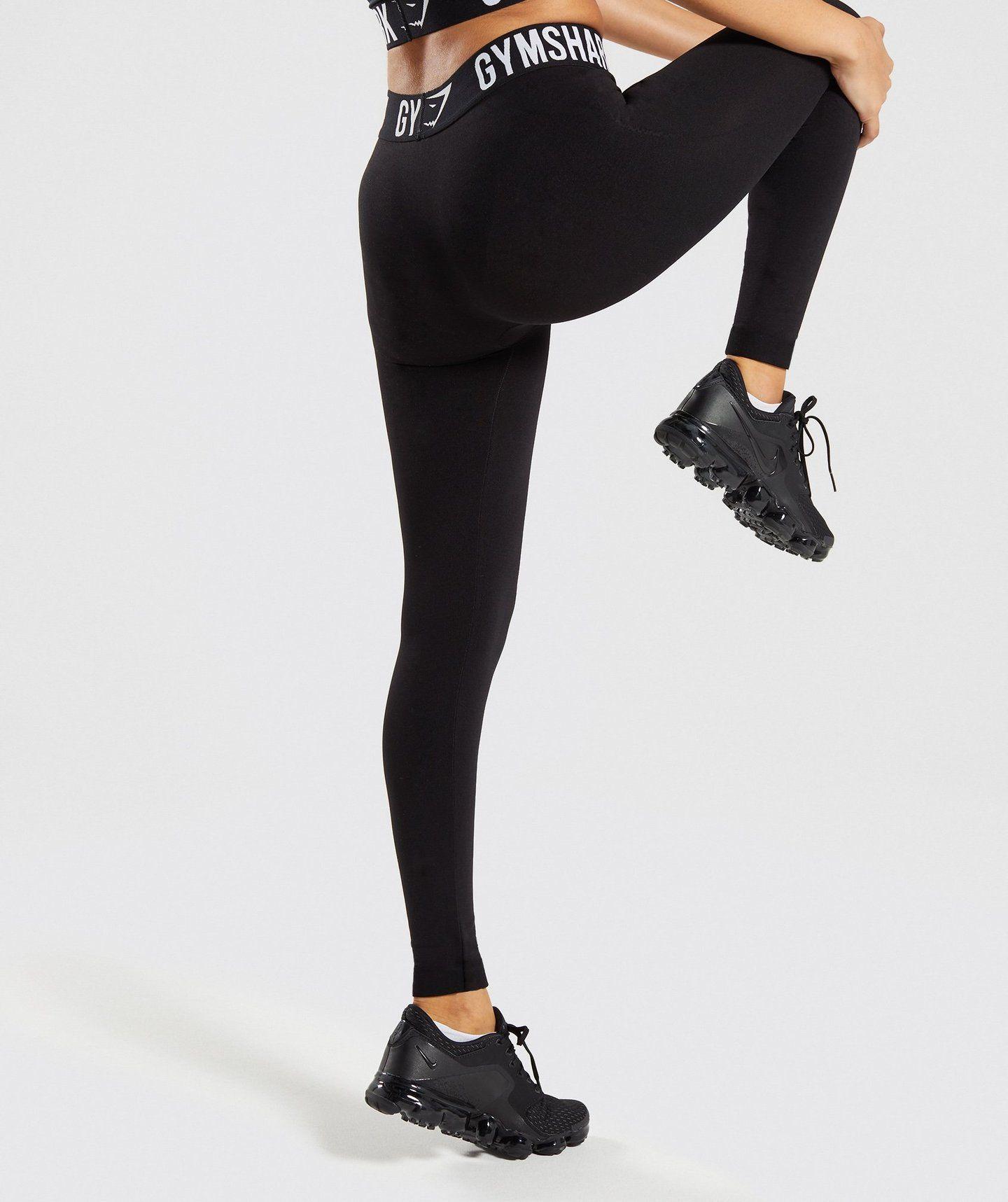 43bc4532c52d9f Gymshark Fit Leggings - Black/White   Stuff to buy   Workout ...