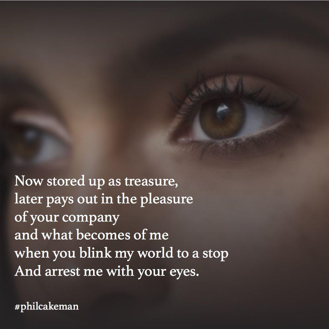 blink your eyes poem