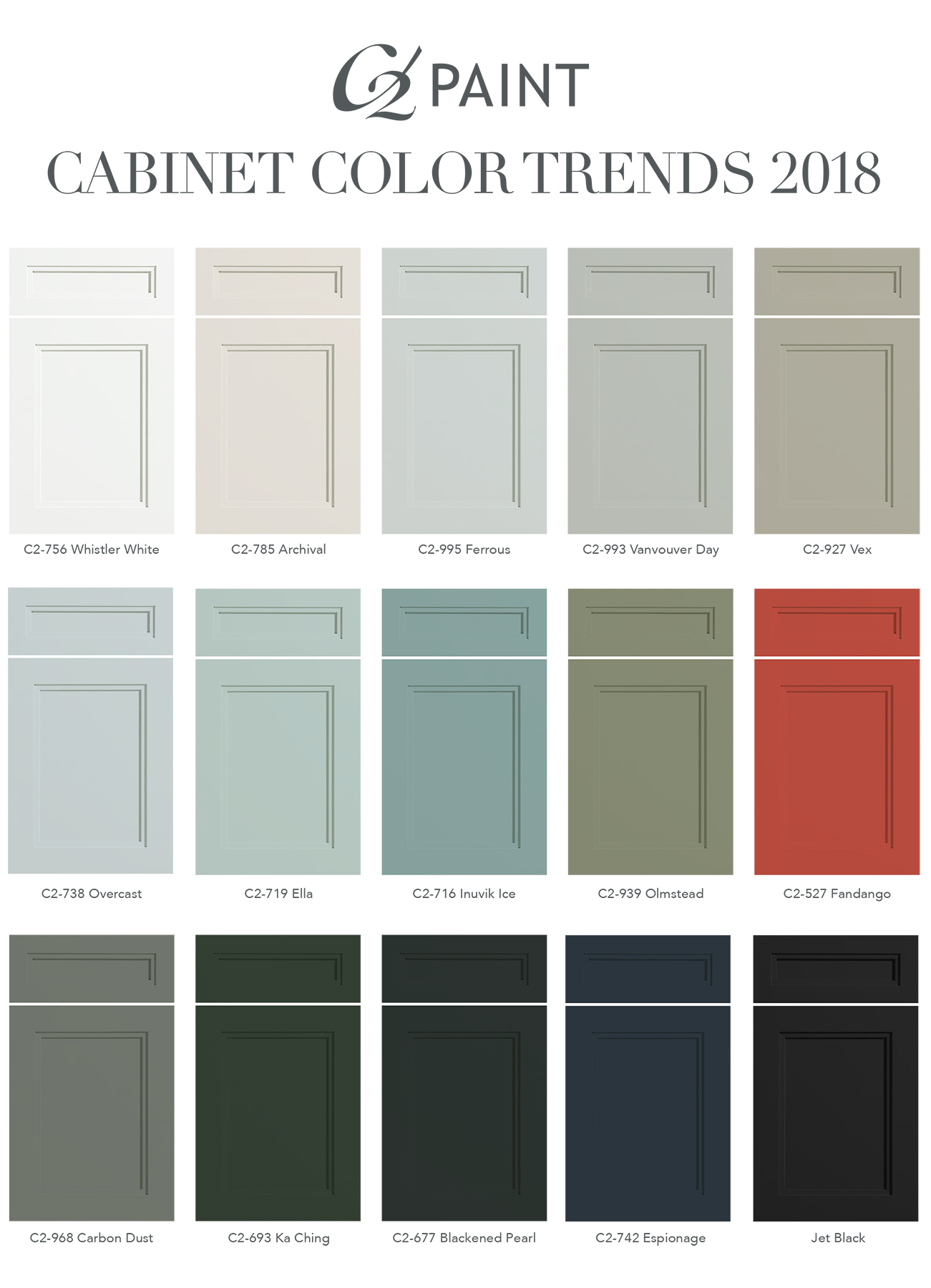 Check Out Our Trending Cabinet Colors For 2018 Which One Inspires You Cabinet Color Kitchen Bathroom Cabinet Colors Kitchen Cabinet Colors Kitchen Colors