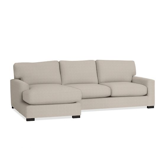 Minimalist Turner Square Arm Upholstered Sofa with Chaise Sectional Beautiful - Review square sectional sofa Elegant