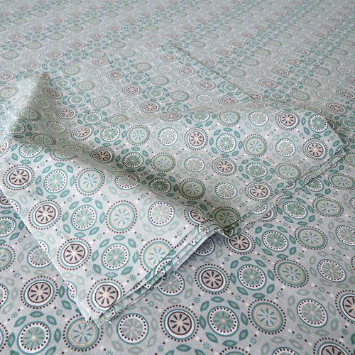 Serviettes de table (par 4) coton motif Circle decoclico maison