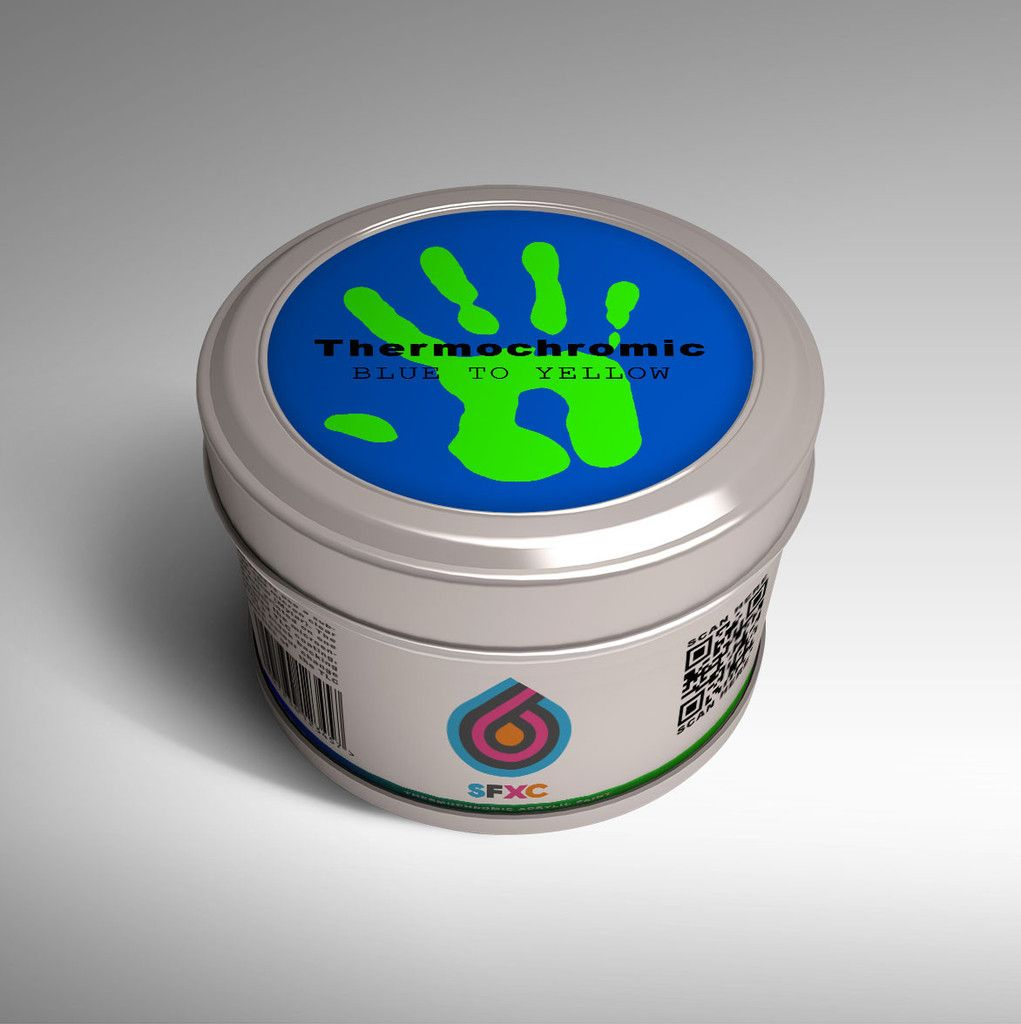 Thermochromic Acrylic Screen Printing Ink Paint Blue To
