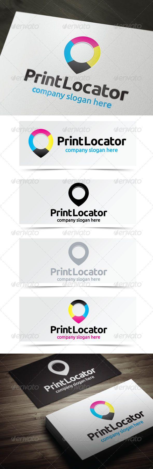 Print Locator Logo templates, Vector logo, Logo design
