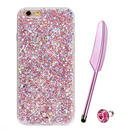 For iPhone 6s Case Silicone Bling Glitter Crystal Shiny Soft TPU