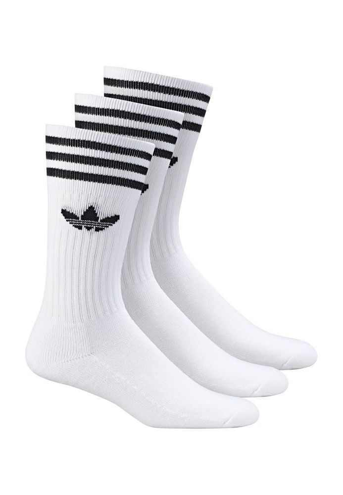 Adidas Socken Dreierpack SOLID CREW SOCK White Black