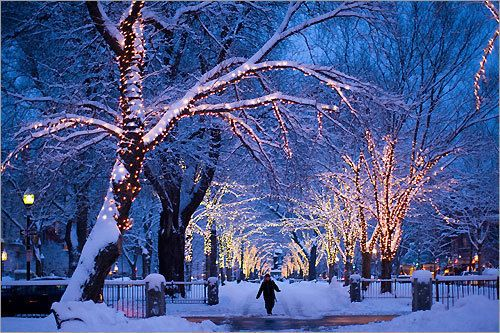Snowy Night Chicago Illinois Zimnie Kartinki Zimnie Sceny Gorod