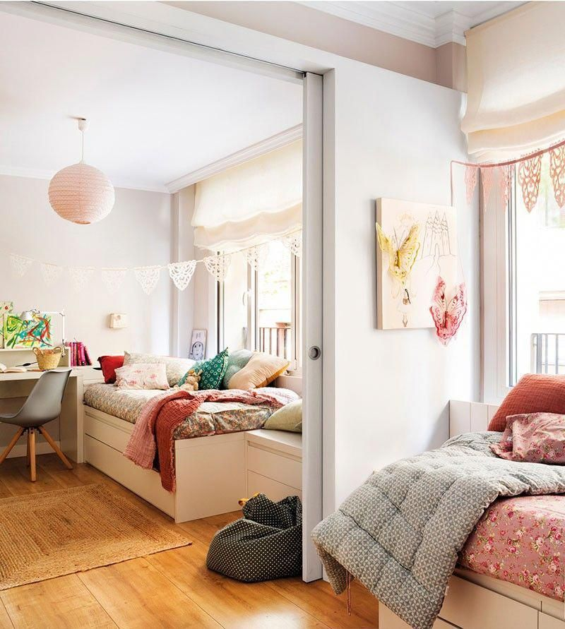 Kids room for two or three: decoration tips and ideas