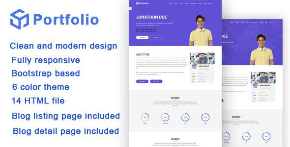 awesome Portfolio \/ Resume Responsive Bootstrap Template - portfolio for resume