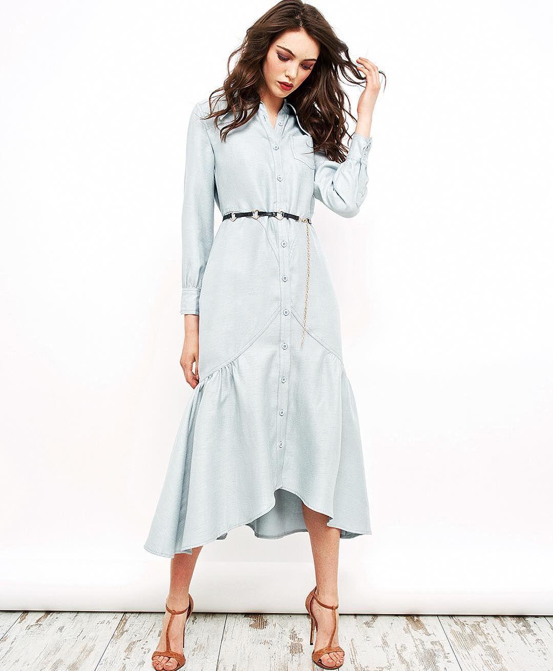 Платье миди из плотного хлопка (также есть в белом и нежно-желтом сливочном цвете). Размер 42/44 Цена 7200₽