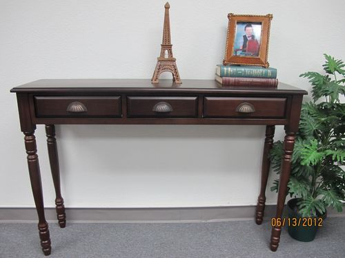 Solid Mahogany Parker Hall Table Beautifully Crafted With Three Drawers Ebay Console Table Traditional Console Tables Wooden Console Table