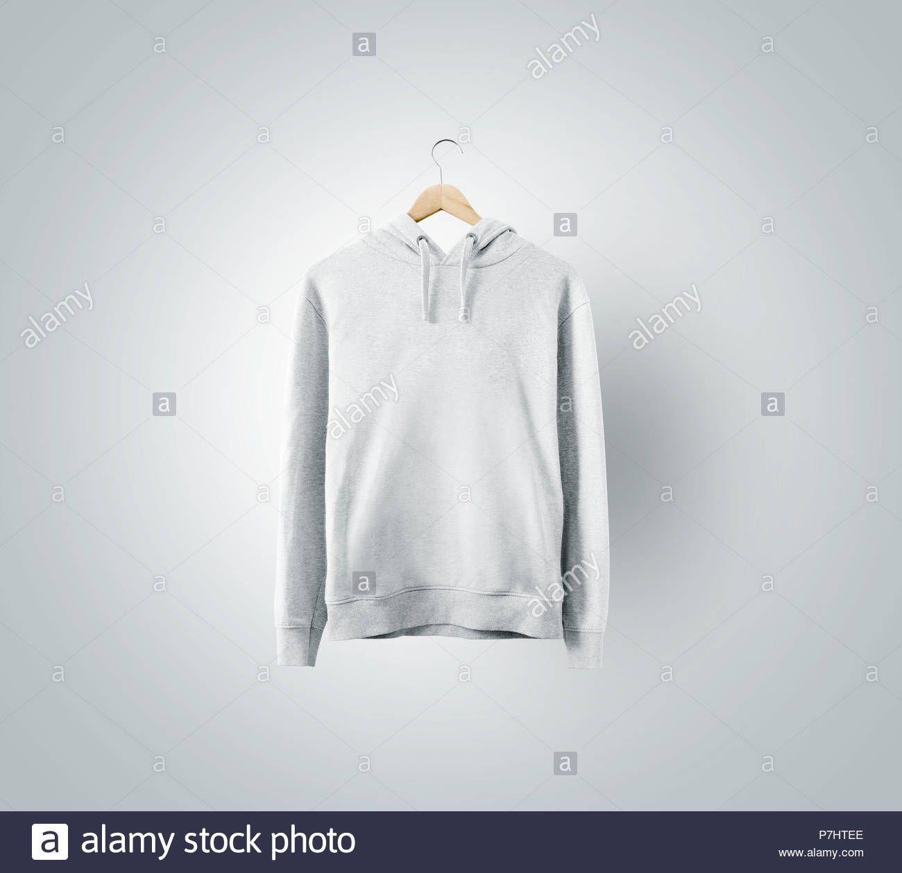 Download Stock Photo Blank White Sweatshirt Mockup Hanging On Wooden Hanger Empty Sweat Shirt Mock White Sweatshirt Sweatshirts Casual Jumpers