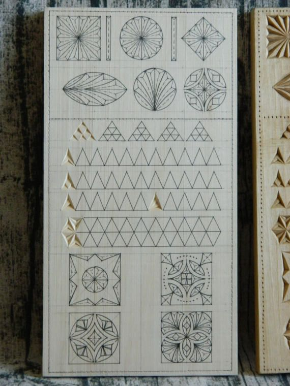 Practice basswood board 1st stage for practicing chip carving wood