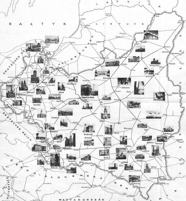 Mapa Turystyczna Przedwojennej Polski 10 Fascynujacych