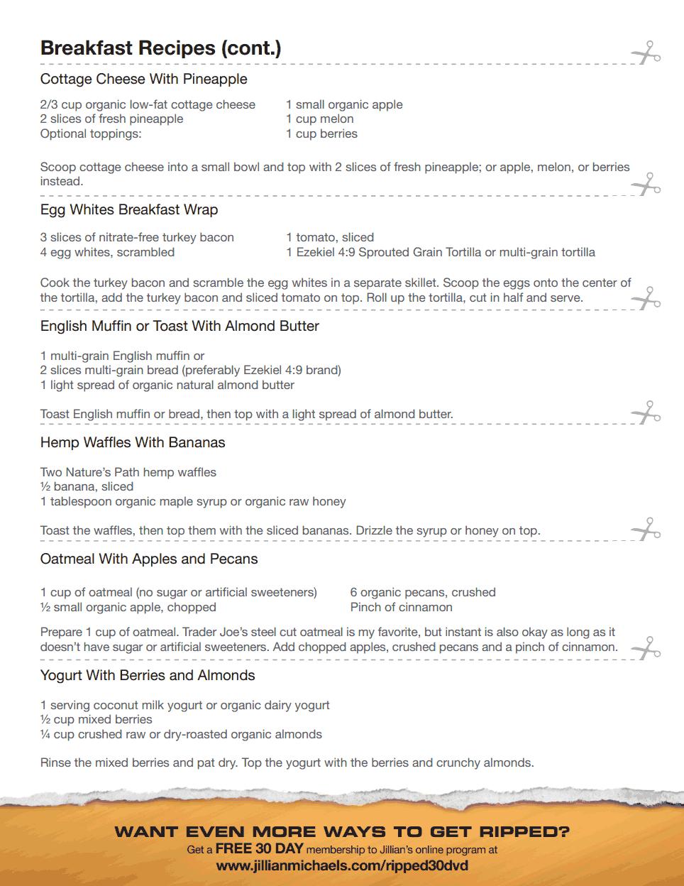 warrior shredding program diet pdf