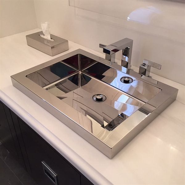 Shop Cantrio Koncepts Steel Series Stainless Steel Bathroom Sink At Lowe S Canada Find Our Selection Of Undermount Bathroom Sinks At The Lowest Price