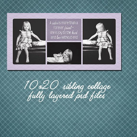 sibling quote storyboard embellished 10x20 by kmpdigitaldesigns - vertical storyboard