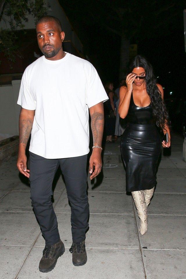 Kanye West - Out With Kim Kardashian on