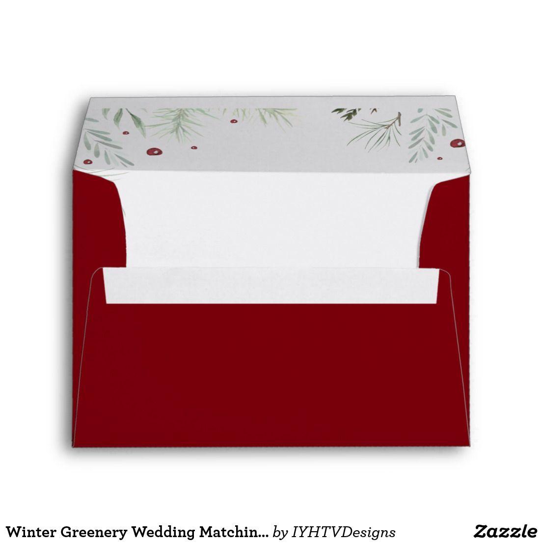 Winter Greenery Wedding Matching Envelope | Weddings | Pinterest ...