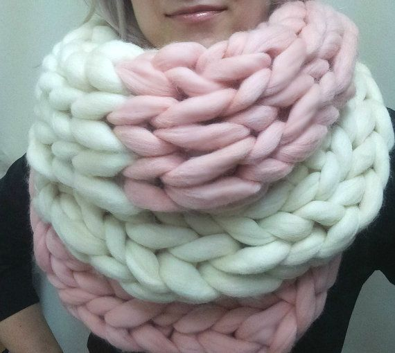 Super chunky infinity scarf, Scarf, Wool Scarf, Oversized Scarf ...