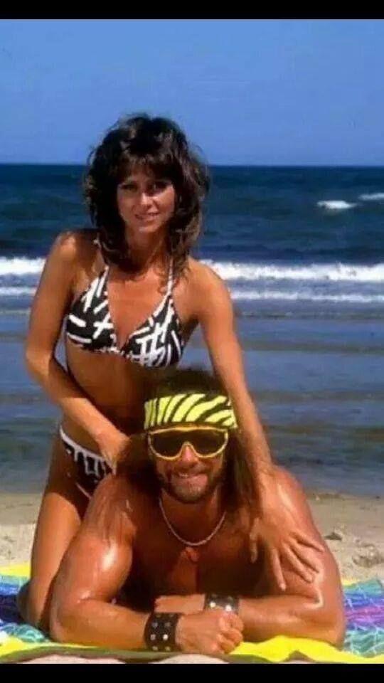 Elizabeth & randy at the beach. :)   Macho Man Randy ...