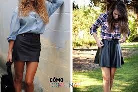 42c873950 Resultado de imagen de como combinar una falda negra corta en invierno