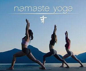 a morning yoga stretch from 'namaste yoga' is the perfect
