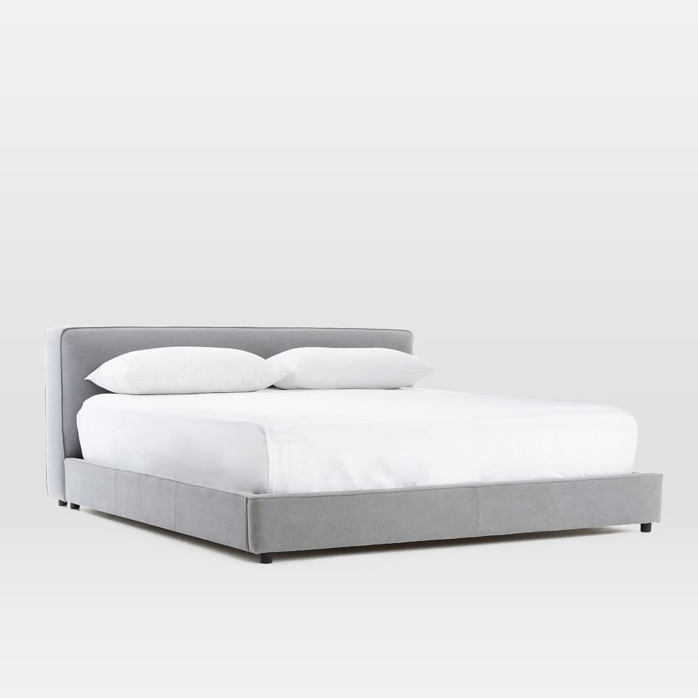 Simple Bed Frame Acorn Modern Upholstered Beds Upholstered