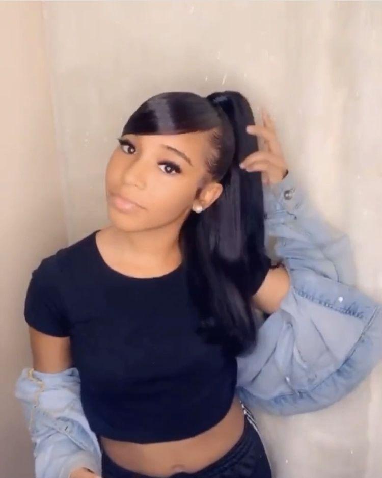 Untitled in 2020 | Sleek ponytail hairstyles, Black girl ...