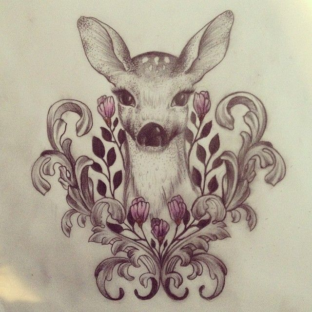 Buck And Doe Tattoos For Couples: And This On My Right Thigh:-)