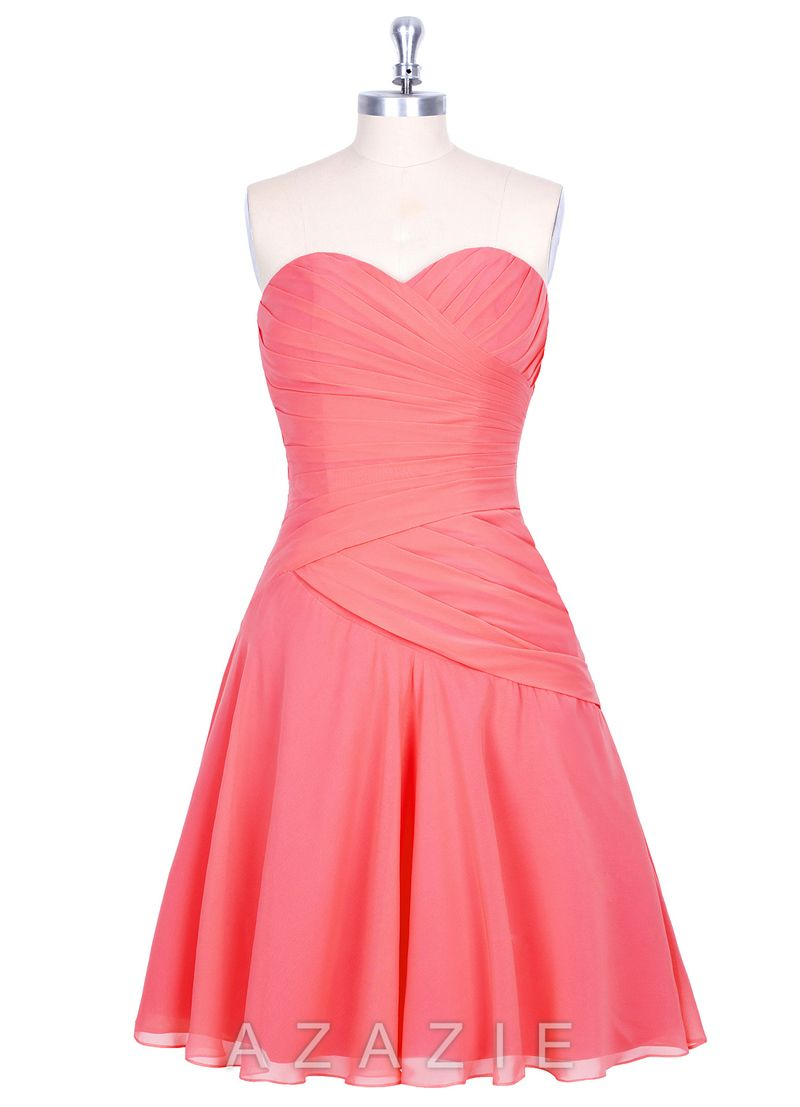 Azazie Sofia. Love this watermelon color and this site has such cute ...