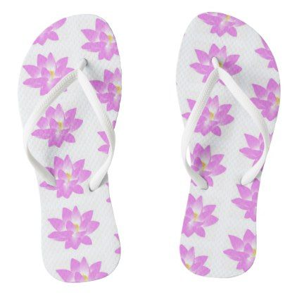 b9c41860db24d7 Thongs flower of loto pink color flip flops - custom diy cyo personalize  gift idea