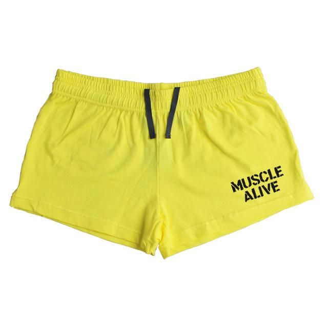 Muscle Alive Sportswear Shorts Men Bodybuilding Shorts Male Workout Clothing Casual Shorts is part of Workout Clothes Shorts - Gender MenItem Type ShortsPattern Type SolidFit Type RegularLength ShortsModel Number M L XLDecoration NoneMaterial Cotton,SpandexPant Style RegularBrand Name MUSCLE ALIVEClosure Type Elastic WaistStyle CasualWaist Type MidHooded NoCollar ONeckFabric Type BroadclothStyle Fashion