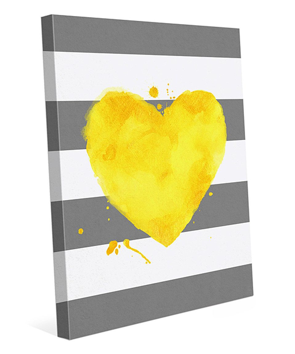 Look at this #zulilyfind! Yellow Heart Wall Art by Image Canvas ...